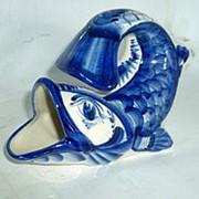 Салфетница «Рыбка» малая ГЖЕЛЬ 13x10x8см. фото