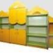 Стенка для игрушек Домик фото