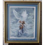 Картина «Молитва о Святом Духе», ручная работа, вышивка. фото