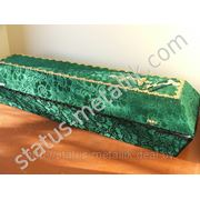 Гробы оббитые тканью фото