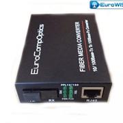 Медиаконвертер EuroCompOptics 100Mbps,20km,SC,1310nm фото