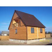 Каркасный деревянный сборный котедж 6м х 8м фото