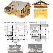 Деревянные дома. Проекты типовые домов и коттеджей фото