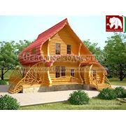 Проект дома 3-204. Проекты типовые домов и коттеджей. Дом в 2 этажа ручной рубки.От производителя. фото
