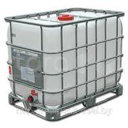 Ёмкости кубические 640 литров на металлическом поддоне фото