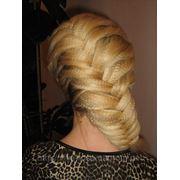 Плетение волос, коса «колосок» или «рыбий хвост» фото