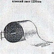 Профнастил плоский лист 1250мм, Пурал с 2-х сторон, 1250x0.6 мм фото