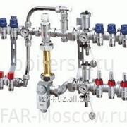 Сборный регулирующий узел для напольного и радиаторного отопления, 7 отвода на теплый пол + 3 отвода на радиатор, Евроконус, артикул FK 3586 1340703 фото