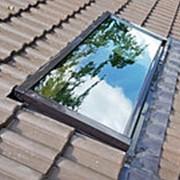 Глухое мансардное окно WERSO, сосна, однокамерный с триплексом, 94х118 см фото