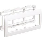 Рамка и суппорт для кабель-каналов Праймер на 4 модуля, 60 мм белый IEK фото