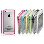 Защитные разноцветные бамперы для iPhone 5, с боковыми кнопками фото