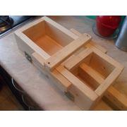 Форма деревянная разборная для мыловарения на петлях шпильках и гайках-барашках. Возможно изготовление по размерам заказчика. Древесина с защитной пропиткой. фото