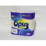 Туалетная Бумага Бриз из 100% целлюлозы белая фото