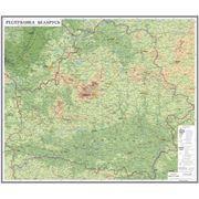 Рельефная карта Республика Беларусь. фото
