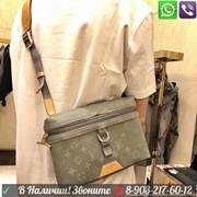 Сумка через плечо Louis Vuitton Messenger PM Titanium Луи Витон LV Серая Хакки фото
