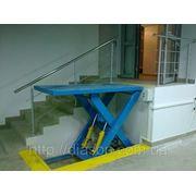 Подъемный гидравлический стол фото