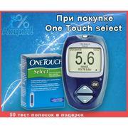 Глюкометр Ван тач селект + 50 тест полосок / One Touch select (Johnson&Johnson) фото