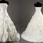 Свадебное платье из тафты фото
