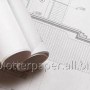 (Бумага) Папір інженерний для плотера 120г/м 610мм (24″) х 37.5м фото