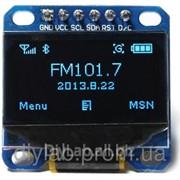 LCD OLED 0.96'' 128x64 SPI Дисплей (синій) фото