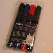 Набор маркеров для белых досок INDEX,IMW535/4,4-ех цветный. фото