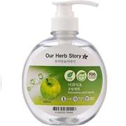 Средство для мытья посуды Korea Our Herb Story яблоко фото