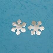 Конфетти фигурное Снежинка (d 4,5 см), цвет серебристый фото