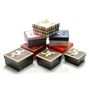 Квадратные подарочные коробки (комплект из 3-х штук) фото