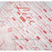 "Бумага белая для упаковки ""LOVE"". фото"
