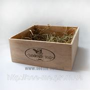 """Коробка из фанеры подарочная с печатью """" Handmade soap"""" фото"""