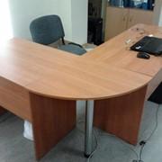 Стол офисный для руководителя Г-образный (угловой) фото