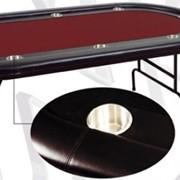 Игровой стол - покер MARTINIQUE (красный) фото