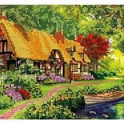 Схема для частичной вышивки бисером Цветущий сад фото