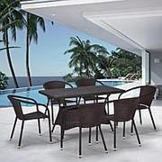 Комплект плетеной мебели T198D/Y137C-W53 Brown 6Pcs фото