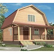 Дом из бруса 6.0 х 7.5 м (Проект Д-068-1 Зимний) фото