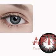 Линзы контактные цветные, серые фото
