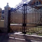 Ворота металлические распашные в Кишиневе фото