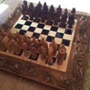 Большие шахматы ручной работы фото