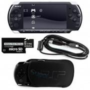 Игровая приставка SONY PlayStation Portable (PSP 3008) Slim + 8gb карта памяти + Чехол + Пленка на экран + USB кабель фото