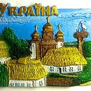 Магнит керамический объёмный Украина 3 фото
