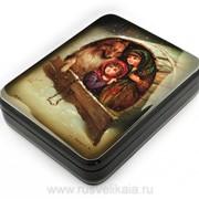 Шкатулка Зимние забавы Федоскино фото