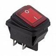 Выключатель клавишный 250V 15А (4с) ON-OFF с подсветкой влагозащита Красный фото