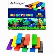 Пластилин 105458 Alingar AL 6305 цветной ( 12 цветов ) без стека для лепки 180 гр. ( цена за 1 уп.) фото
