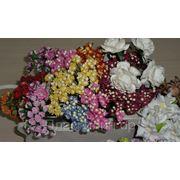 Цветочки из шелковой бумаги фото