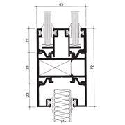 Алюминиевые профили ТЕКНО 45 П - оконно-дверные строительные системы и перегородки для изготовления ограждающих светопрозрачных конструкций и вентилируемых фасадов различной сложности.