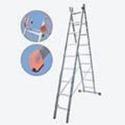 Универсальная алюминиевая двухсекционная лестница 28 ступеней Dubilo KRAUSE 121295 фото