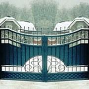 Ворота с калиткой кованые вк 39 фото