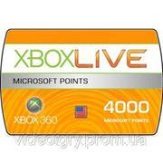 Пополнение счета Xbox 360 Xbox Live 4000 MS Points USA фото