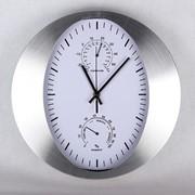 Часы настенные 30.5х30.5х4.5см KR276 алюминевый корпус фото