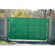 Покраска ворот фото